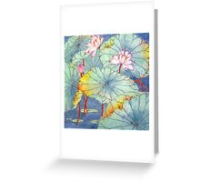 Lotus Glamour Greeting Card
