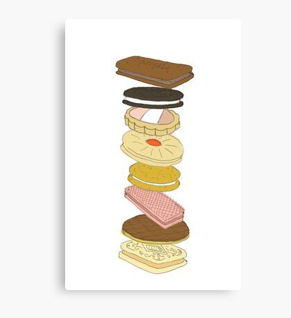 biscui -biscuit pattern Canvas Print