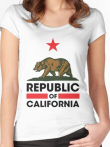 Republic of California Women's Fitted Scoop T-Shirt