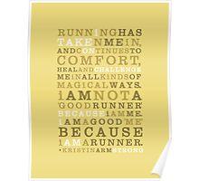 Strong Runner • Golden Poster