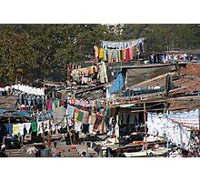 Slum Laundry Photographic Print