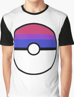 "Pokeball ""Bisexual Ball"" LGBTQ Shirt/etc Graphic T-Shirt"