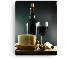 Wine, Cheese and Olives Canvas Print