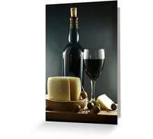 Wine, Cheese and Olives Greeting Card