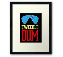 Tweedle dee and tweedle dum. Framed Print