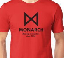 Monarch : Blowing up monsters since 1954 (Black) Unisex T-Shirt