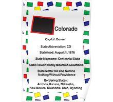 Colorado Information Educational Poster