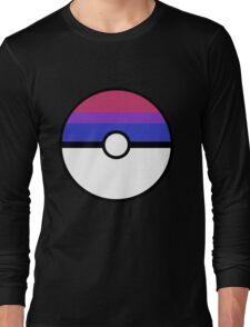 """Pokeball """"Bisexual Ball"""" LGBTQ Shirt/etc Long Sleeve T-Shirt"""