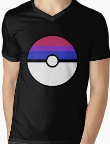 "Pokeball ""Bisexual Ball"" LGBTQ Shirt/etc Mens V-Neck T-Shirt"