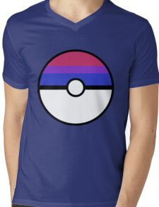 "Pokeball ""Bisexual Ball"" LGBTQ Shirt/etc Mens V-Neck T-Shirt"