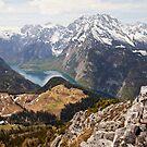 Lake between the mountains by Béla Török