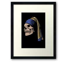 The Skull with a Pearl Earring Framed Print