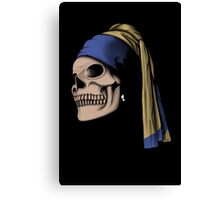 The Skull with a Pearl Earring Canvas Print