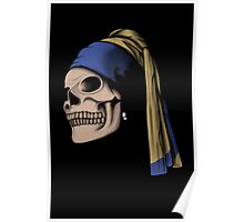 The Skull with a Pearl Earring Poster