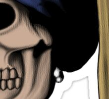 The Skull with a Pearl Earring Sticker