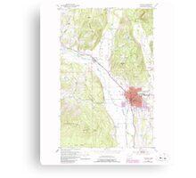 USGS Topo Map Washington State WA Colville 240624 1952 24000 Canvas Print