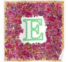 """""""E"""" Is For Evening Primrose Poster"""