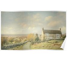 Evening Light On The Moors Poster