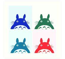 Warhol Totoro Art Print