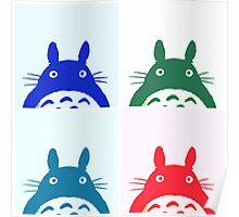 Warhol Totoro Poster