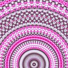 Pretty Pink Mandala pattern iPhone case by Vicki Field