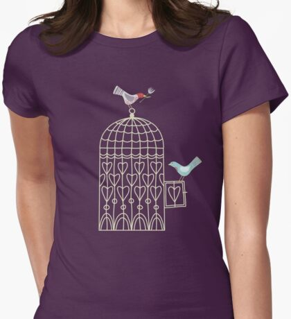 Leaving the Birdcage Womens Fitted T-Shirt