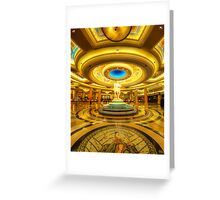 Caesar's Grand Lobby Greeting Card