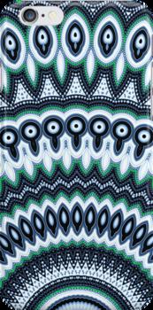 Funky Peacock Mandala Pattern iPhone case by Vicki Field