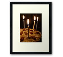Maple and Pecan Layer Cake Framed Print
