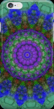 Purple Fantasy mandala pattern iPhone case by Vicki Field