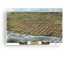 Panoramic Maps Bird's eye view of the city of Erie Erie County Pennsylvania 1870 Canvas Print