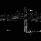 The rise of the supermoon over San Francisco by Rodney Johnson