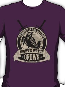 Night's Watch Crest with Swords T-Shirt