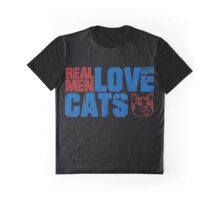 Funny cat quote: Real mean love cats Graphic T-Shirt