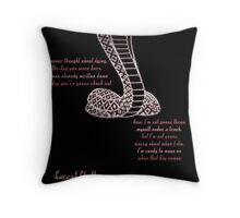 Carrol Shelby Memorial (Alternate Quote) Throw Pillow