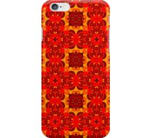 Red and yellow pattern  iPhone Case/Skin