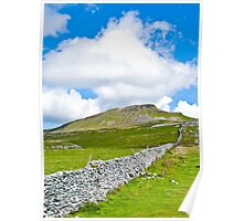 The Three Peaks - Pen-y-ghent Poster