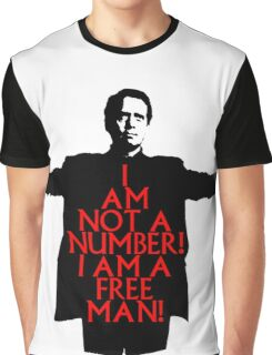 The Prisoner - I AM NOT A NUMBER! Graphic T-Shirt