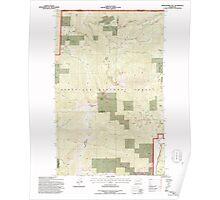 USGS Topo Map Washington State WA Abercrombie Mtn 239721 1992 24000 Poster