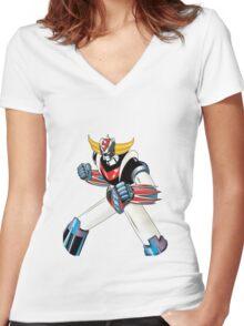 Goldrake Women's Fitted V-Neck T-Shirt