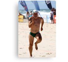 Van sprints at masters Canvas Print