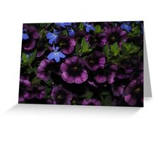 Purple with a Touch of Blue Greeting Card