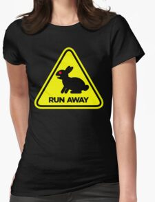Killer Rabbit (Yellow) Womens Fitted T-Shirt