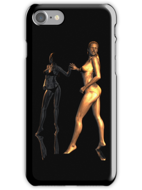 Iphone Cover - Metallic Reflections by Pendraia