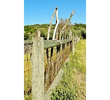 California Mission Fence Photographic Print