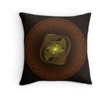 Deep Dish Fractal Rendering Throw Pillow