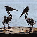 Pelican Sculpture by William Goschnick