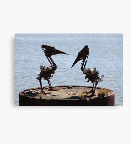 Pelican Sculpture Canvas Print