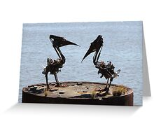 Pelican Sculpture Greeting Card