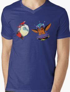 Vega & Actarus Mens V-Neck T-Shirt